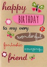 Friend Birthday Greeting Card Second Nature Yours Truly Cards