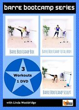 Barre Weights Cardio EXERCISE DVD Barlates Body Blitz BARRE BOOT CAMP 3 Workouts