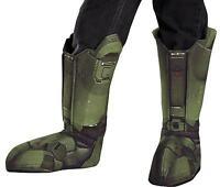 CHILD MASTER CHIEF HALO GAME BOOT COVERS COSTUME ACCESSORY DG89999