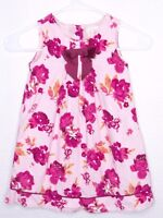 Pumpkin Patch Kids 3 Girls Floral Corduroy Dress Pink Burgundy