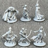 Set of 6 grey heroes Dungeons & Dragon D&D Marvelous Miniatures toy game figures