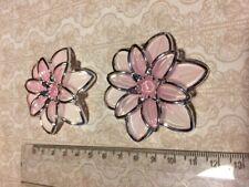2 piccolo fiore in plastica ROSA decorazioni