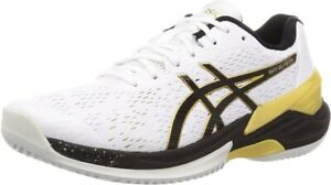 ASICS Japan Men's SKY ELITE FF Low Volleyball Shoes 1051A031 White With Tracking