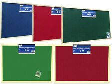 Fabric Message Notice Board Wooden Frame Office Memo School Pinboard Push Pin