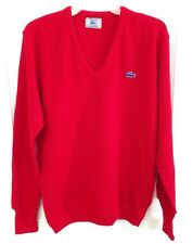 Men's L Vintage IZOD Lacoste Alligator Sweater Modern/Hipster Grandpa Bright Red