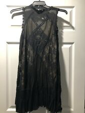 Free People Angel Lace Dress Black Nude