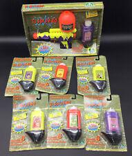 1992# RARE REMCO TOYS SUPER  STINKER WATER GUN STINKY GARBAGE + 6 REFILLS BUNDLE