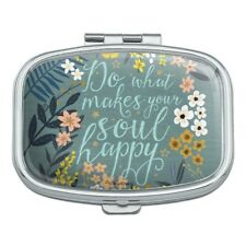 Do What Makes Your Soul Happy Rectangle Pill Case Trinket Gift Box