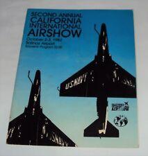 1982 ~ 2nd Annual California International Air Show Program -Blue Angels & More