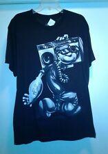 New Men Popeye Shirt Black L