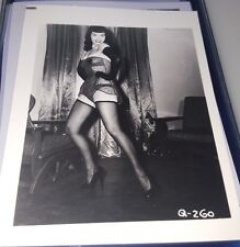 BETTIE PAGE PIN-UP ORIGINAL PHOTO FROM VINTAGE IRVING KLAW NEGATIVE #Q260