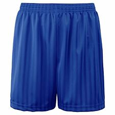 Boys Kids Children Football Shorts School Uniform Sports Stripe PE Gym Shorts