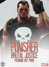 Sideshow Collectibles Marvel Punisher Brutal Justice Premium Art Print LE 300
