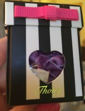 NWT: JUICY COUTURE Heart Lace Thong Panties New In Box Size L Pansy/Violet
