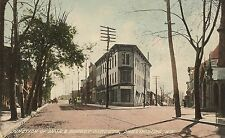 Junction of Main and Market Streets in Phillipsburg NJ Postcard
