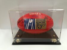 AUTHENTIC DUAL-SIGNED CHRIS JUDD BRENDON FEVOLA LTD ED FOOTBALL IN DISPLAY CASE
