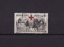 timbre France  croix rouge      num: 156  oblitéré