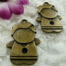 Free Ship 28 pieces bronze plated boy charms 28x18mm #367