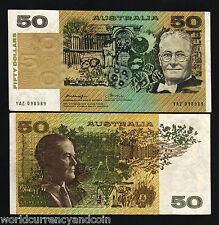 AUSTRALIA 50 DOLLARS P47 B 1975 SATELLITE RAT DOG AUNC KNIGHT / WHEELER BANKNOTE