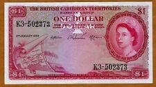 British Caribbean Territories, $1, 2-1-1959, QEII, P-7c,  XF