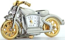 NEW GENEVA 3D 2 TWO TONE GOLD,SILVER TONE MOTORCYCLE KEY CHAIN RING, FOB WATCH