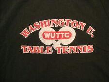 Washington U WUTTC Table Tennis Ping Pong Fan Dark Green T Shirt M