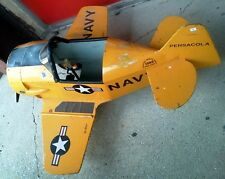 EAA Navy Pedal Plane of Houston Aviation Products Kit 1988 Pedal Car Airplane