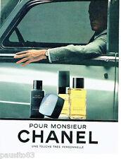 PUBLICITE ADVERTISING 056  1983    Pour Monsieur eau toilette after-shave Chanel