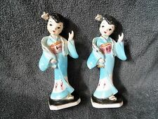(2) VINTAGE JAPANESE GEISHA GIRLS  FIGURINES ~ ATLAS JAPAN