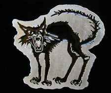 HISSING BLACK CAT PEWTER BELT BUCKLE US MADE NEW!