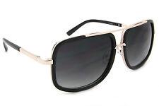 Square Oversized Fashion Sunglasses Smoked Lens Men Women Designer Frames