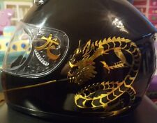 CHINESE DRAGON STICKERS HELMET DECALS MOTOCROSS/ RACING/ ROAD MOTORCYCLE GOLD SE