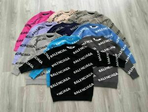 11Balenciaga Sweater Hooded Long Sleeve Pullover Loose fit Jumpers Winter Warm