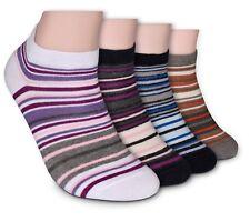 8-16 Paar Damen Sneaker Socken 80 Pro Baumwolle Grö�Ÿe 35-38 39-42 farbige Ringel