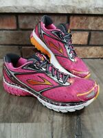 Womens Size 8.5 Brooks Ghost 7 Pink Athletic Running Shoes Sneakers