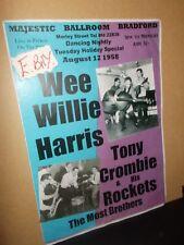 A3 SIZE BRADFORD POSTER WEE WILLIS HARRIS & TONY CROMBIE AUG 1958