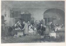 """Vintage Etching of """"The Rent Day"""" by John Madden Sculp, Wilkie, Pinxit"""