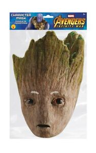 Groot Marvel Infinity War Official 2D Card Party Face Mask Fancy Dress Up
