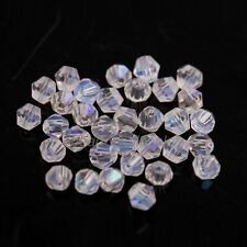 4mm Czech Glass Faceted Round Fire Polished Beads 15 Colours x 100 Beads