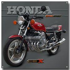 Honda Super Sport CBX 1000Z 1979 Candy Glory Rot Motorrad Metall Schild 30.5cm X
