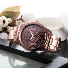 Luxury Womens Ladies Watch Stainless Steel Sport Quartz Hour Wrist Analog Watch