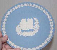 Wedgwood Blue & White Jasperware Christmas 1982 Plate Lambeth Palace