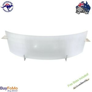 Indoor Wall Light Dimmable Curved Glass Shield Lamp Oriel New York Soho 100W