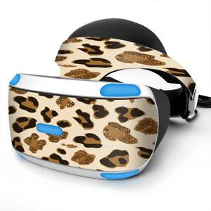Skin Wrap for Sony Playstation PSVR Headset Brown Leopard Skin Pattern