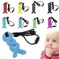 Twist Autism ADHD Sensory Chew Silicone Necklace Pendant BPA Free UK Seller