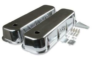 Mr. Gasket Cast Aluminum Tall Valve Covers - Polished - 6858G