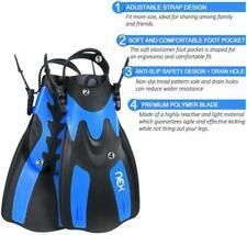 Adjustable Swimming Fins Adult kids Short Blade Scuba Diving Snorkeling Flippers