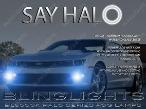 LED Angel Eye Halo Fog Lamps Lights Kit for 2014 2015 2016 Chevy Camaro LS LT