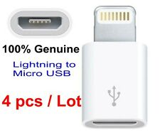 4 pcs Genuine Original Lightning to Micro USB Adapter | Apple iPhone 5S 6S PLUS