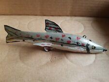 Vintage Fish Spearing Decoy - Sherman Dewey - Ice Fishing